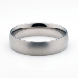 Titanium Men's Wedding Ring on white background