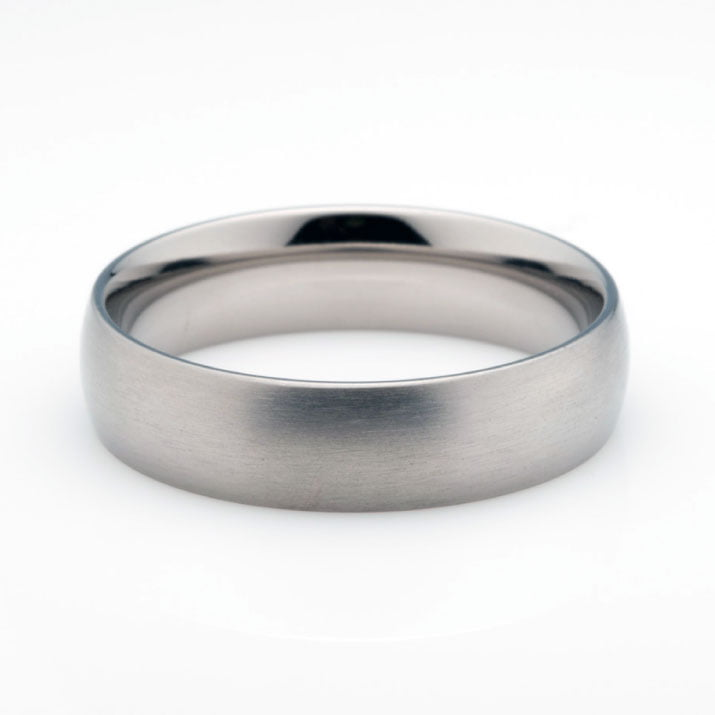 Brushed Titanium Mens Wedding Ring