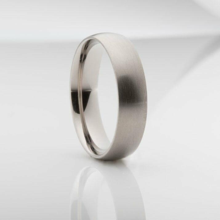 Brushed Titanium Mens Wedding Ring The Gentlemans Smith
